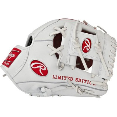 Gamer XLE 2016 Limited Edition Baseball Glove - White/Red, Right Hand Throw