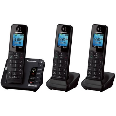 KXTGH263B Dect 6.0 3 Digital Cordless Handsets