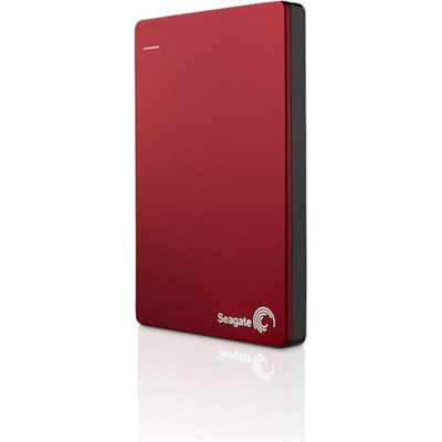 Backup Plus 2TB Portable External Hard Drive with Mobile Device Backup Red