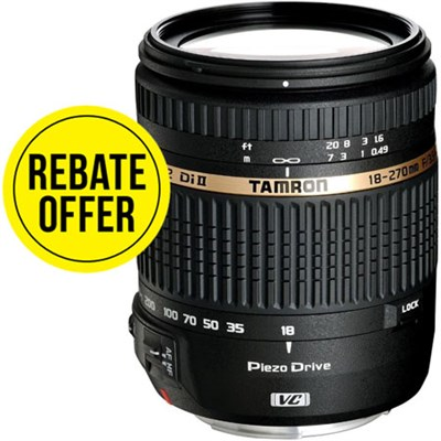 18-270mm f/3.5-6.3 Di II VC PZD Aspherical Canon DSLR W 6-Yr USA Warranty Refurb
