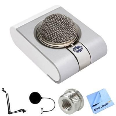 Snowflake Portable USB Microphone w/ Accessories Bundle