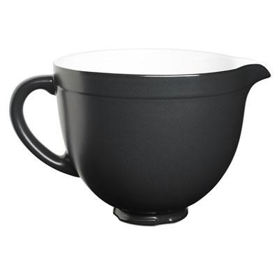 5-Quart Tilt-Head Ceramic Bowl in Black Matte - KSMCB5BM