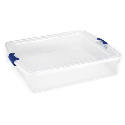 56-Quart Latching Clear Storage Container FQ - 3460CLBL.04