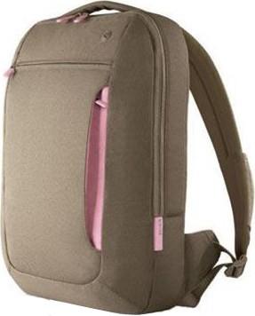 F8N087-KPP 15-Inch Messenger Bag (Khaki/Powder Pink)