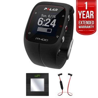 M400 GPS Running & Sports Smart Watch + B.tooth Scale & Headphone Bundle