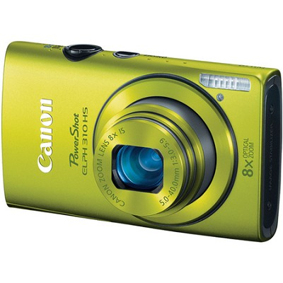 PowerShot ELPH 310 HS 12MP Green Digital Camera w/ 8x Zoom, 1080p Video