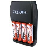 ZE-SC2900 Charger with 4AA 2900mAh Batteries