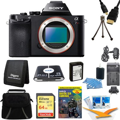 Alpha 7R a7R Digital Camera 64GB SDXC Card, Battery, Bundle