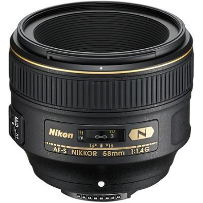 AF-S FX Full Frame NIKKOR 58mm f/1.4G Lens