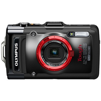 STYLUS Tough TG-2 iHS Digital Camera - Black Factory Refurbished
