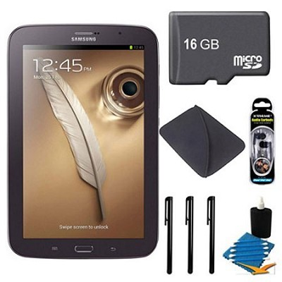 8` Galaxy Note 8.0 16GB Brown Tablet 16GB Bundle