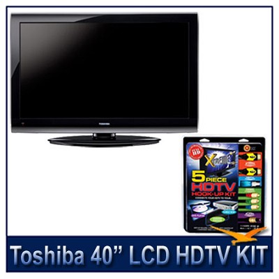 40E200U 40` 1080p LCD HDTV + High-performance HDTV Hook-up & Maintenance Kit