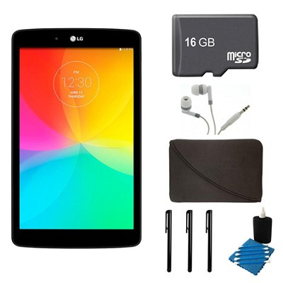G Pad V 480 16GB 8.0` WiFi Black Tablet, 16GB Card, and Case Bundle