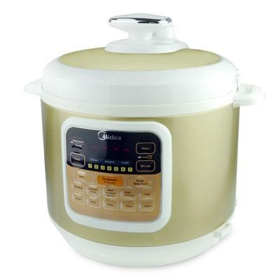 6-Quart Pressure Cooker in White with Stainless Steel Inner Pot - MYCS6002W