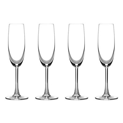Advantage Glassware Essentials Collection Champagne Flute, Set of 4