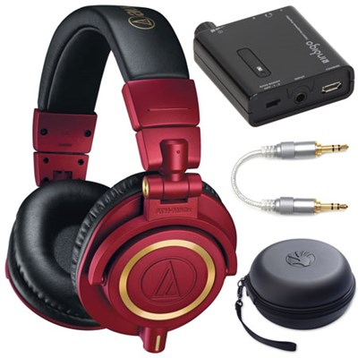 ATH-M50xRD Professional Studio Monitor Headphones (Red Limited Edition) Bundle