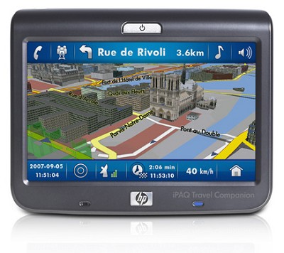 HP IPAQ 310 Travel Companion GPS Navigation System w/ bluetooth