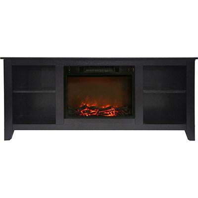62.8 x15.2 x26.5  Santa Monica Fireplace Mantel with Logs Insert