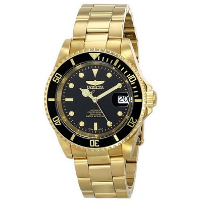Men's Pro Diver 40mm Stainless Steel Gold Plated Gold Black Dial 8929OB
