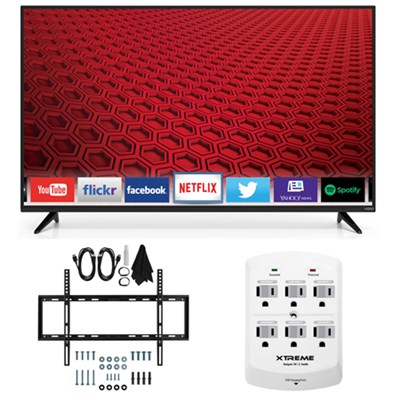 E60-C3 - 60-inch 120Hz 1080p LED Smart HDTV Slim Flat Wall Mount Bundle