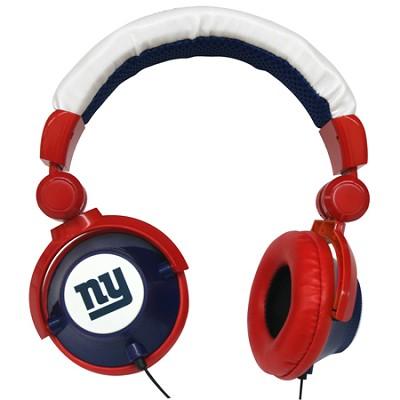 NFL Football Licensed New York Giants DJ Style Headphones