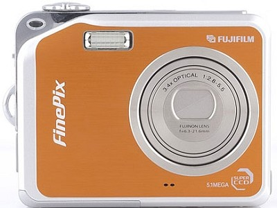 Finepix V10 Digital Camera (Orange)