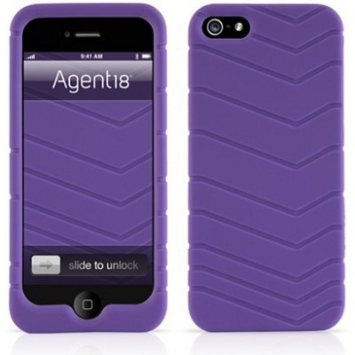 Velocity Silicone Case for iPhone 5 - Purple