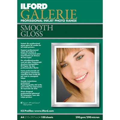 Galerie Smooth Gloss Inkjet 4 x 6 Photo Paper, 100 Sheets