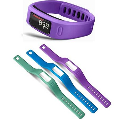 Vivofit Bluetooth Fitness Band (Purple)(010-01225-02) with 3 Extra Bands (large)