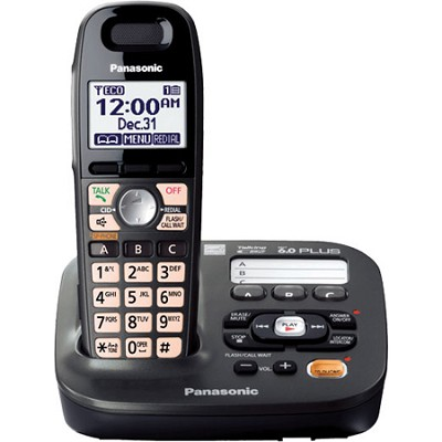 KX-TG6591T Expandable Digital Cordless Answering System with 1 handset