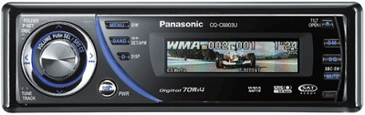 CQ-C8803U In-Dash Receiver w/CD player and  iPod-ready MP3/WMA playback