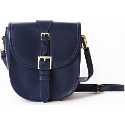 Isaac Mizrahi `JANE` CROSSBODY Genuine Leather Camera & Tech Bag - Blue