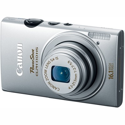 PowerShot ELPH 110 HS 16.1MP CMOS Silver Digital Camera 5x Opt Zoom 1080p HD Vid
