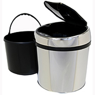 1.5 Gallon Round Stainless Steel Automatic Sensor Touchless Trash Can (IT01RC)