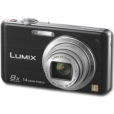 DMC-FH22K LUMIX 14.1 Megapixel Black Digital Camera 3-inch Touch Screen OPEN BOX