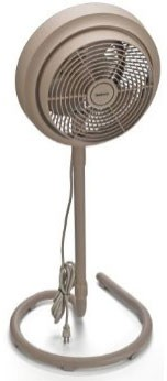 3-Speed Outdoor Stand Fan with Misting Kit