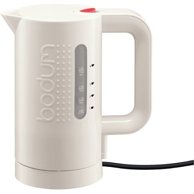 Bistro Electric Water Kettle, 0.5 l, 17 oz (White)