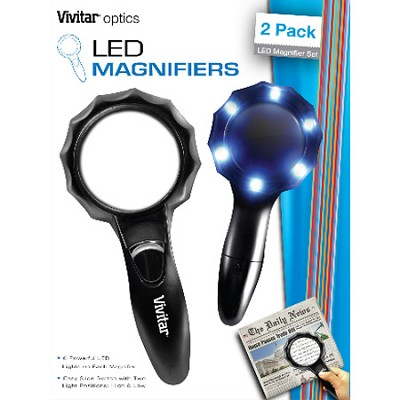 Optics LED Magnifiers 2 pack led magnifier set large and medium.