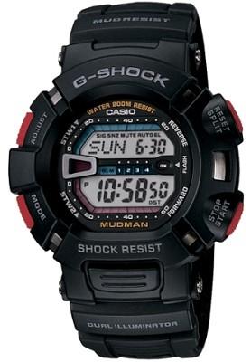 G9000-1V - G-Shock Mudman Shock, Mud, & 200M Water Resist, Super illuminater