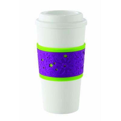 Acadia Reusable To Go Mug, Mod Flower Design 2510-0184