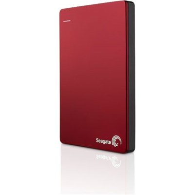 Backup Plus 2TB External Hard Drive w/ Mobile Device Backup Red - OPEN BOX