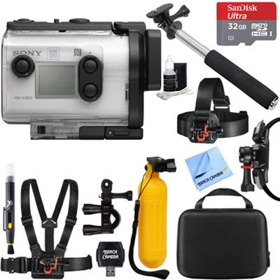 FDR-X3000 4K Wi-Fi GPS Action Camera w/ Optical SteadyShot + 32GB Mount Kit