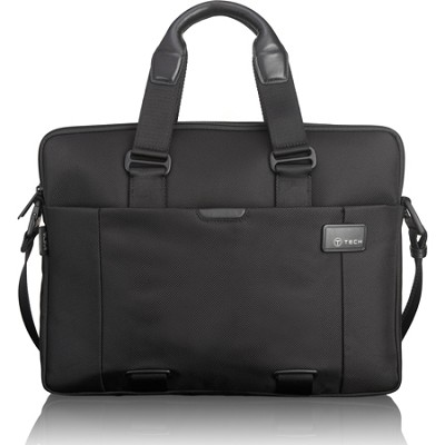 T-Tech Network Slim Double Zip Laptop Brief (Black)