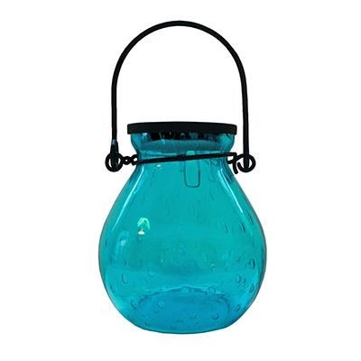 Bubble Gls Solar Lantern Turq