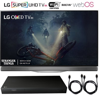 OLED55E7P - 55` E7 OLED 4K HDR Smart TV 2017 + Blu-Ray Player Bundle