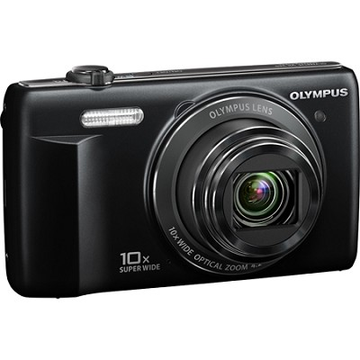 VR-340 16MP 10x Opt Zoom 3-inch LCD Digital Camera - Black