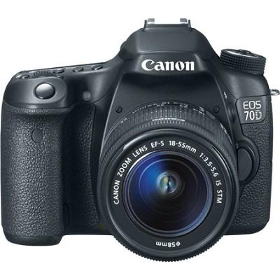 EOS 70D 20.2 MP CMOS Digital SLR Camera w/ EF-S 18-55mm F3.5-5.6 IS STM Lens Kit