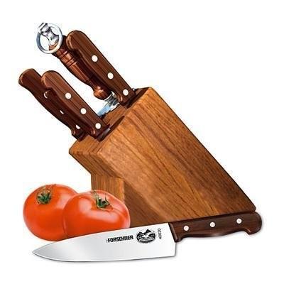7-Piece Knife Set with Block, Rosewood Handles