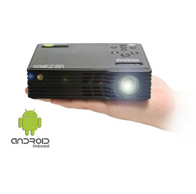AAXA LED Android Pico Projector, 550 Lumens with Android OS, 720P HD Resolution