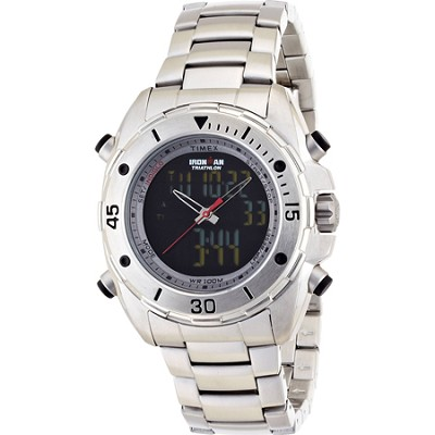 Mens Ironman Dual Display Stainless Steel Watch - T5K406